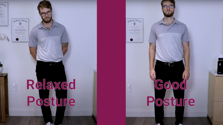 Relaxed vs Good posture