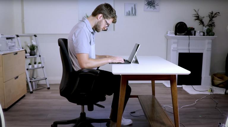 Bad desk posture