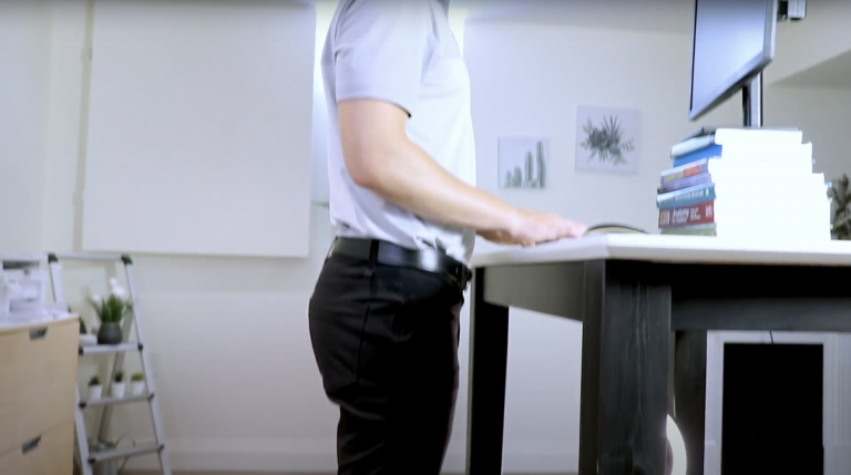 Andrew at a Standing Desk